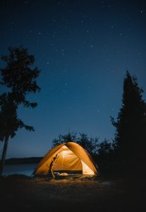 never forget your tent on a hike - just like your outdoor first aid kit